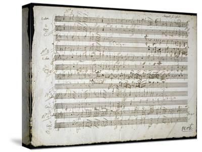 Sheet Music by Mozart: Six Contre Danses--Stretched Canvas Print