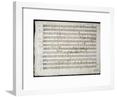 Sheet Music by Mozart: Six Contre Danses--Framed Giclee Print