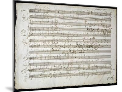 Sheet Music by Mozart: Six Contre Danses--Mounted Giclee Print