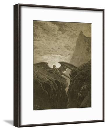 Satan Resting on the Mountain-Gustave Dor?-Framed Giclee Print