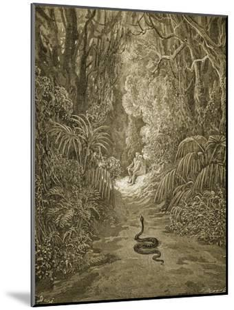 Satan As a Serpent Enters Paradise-Gustave Dor?-Mounted Giclee Print