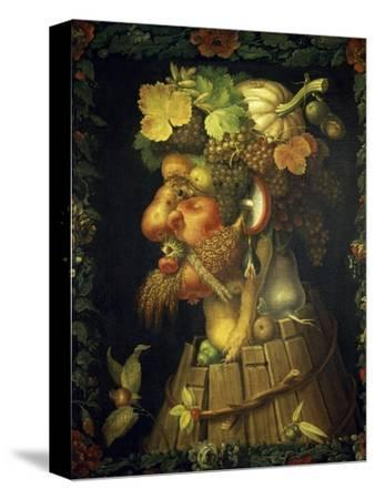Autumn-Giuseppe Arcimboldo-Stretched Canvas Print