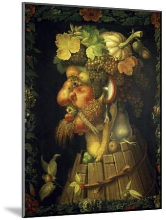 Autumn-Giuseppe Arcimboldo-Mounted Giclee Print