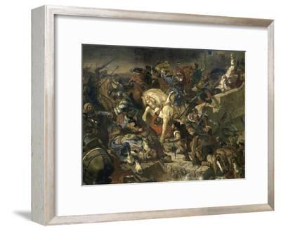La Bataille de Taillebourg-Eugene Delacroix-Framed Giclee Print