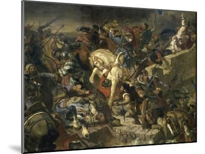 La Bataille de Taillebourg-Eugene Delacroix-Mounted Giclee Print