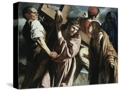Calvary-Caravaggio-Stretched Canvas Print