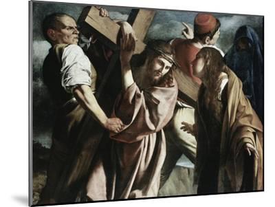 Calvary-Caravaggio-Mounted Giclee Print