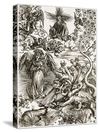 The Apocalyptic Woman-Albrecht D?rer-Stretched Canvas Print