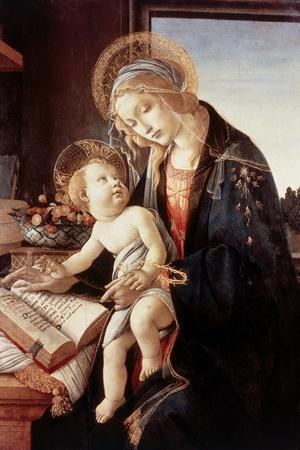 Madonna Del Libro-Sandro Botticelli-Stretched Canvas Print