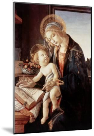 Madonna Del Libro-Sandro Botticelli-Mounted Giclee Print