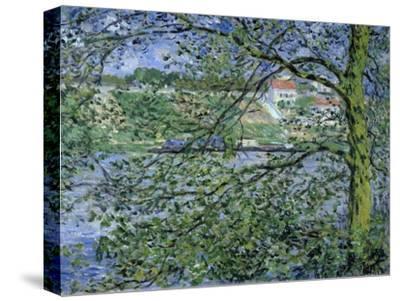 Paysage de la Seine-Claude Monet-Stretched Canvas Print