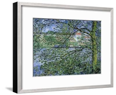 Paysage de la Seine-Claude Monet-Framed Giclee Print