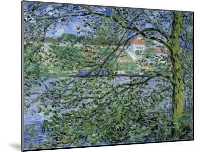 Paysage de la Seine-Claude Monet-Mounted Giclee Print