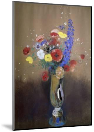 Vase of Flowers from a Field-Odilon Redon-Mounted Giclee Print