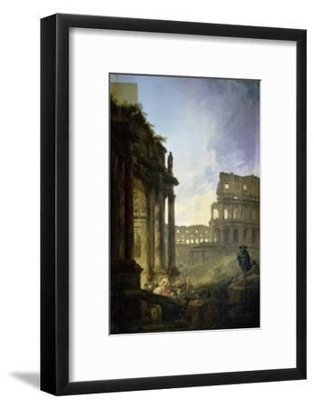 Landscape of Italy-Hubert Robert-Framed Giclee Print