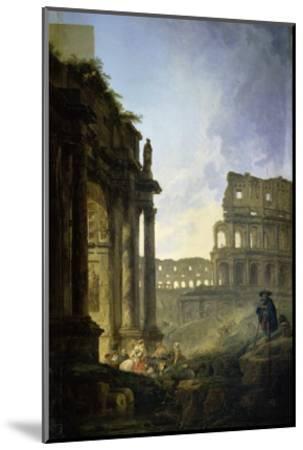 Landscape of Italy-Hubert Robert-Mounted Giclee Print