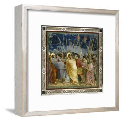 The Betrayal of Christ-Giotto di Bondone-Framed Giclee Print