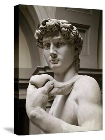 David, Detail-Michelangelo Buonarroti-Stretched Canvas Print