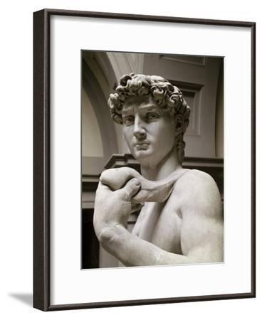 David, Detail-Michelangelo Buonarroti-Framed Giclee Print