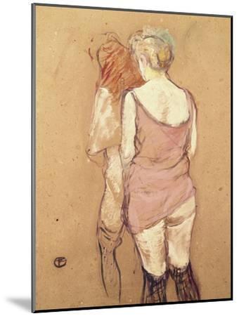 Rue de Moulins: The Medical Inspection-Henri de Toulouse-Lautrec-Mounted Giclee Print