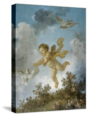 Love Reaching for a Dove-Jean-Honor? Fragonard-Stretched Canvas Print