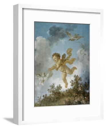 Love Reaching for a Dove-Jean-Honor? Fragonard-Framed Giclee Print