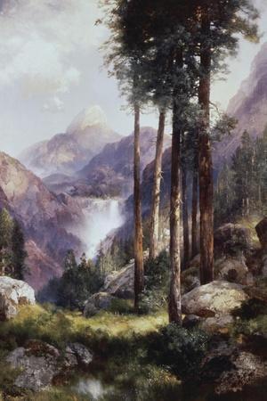 Vernon Falls, Yosemite Valley-Thomas Moran-Stretched Canvas Print