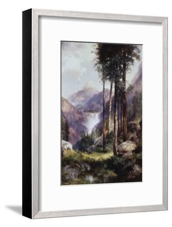 Vernon Falls, Yosemite Valley-Thomas Moran-Framed Giclee Print