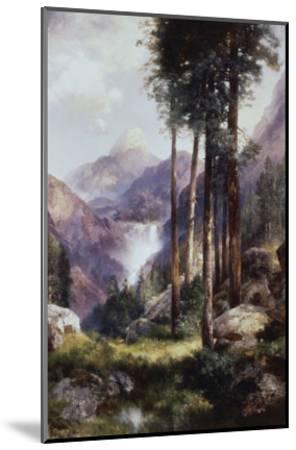 Vernon Falls, Yosemite Valley-Thomas Moran-Mounted Giclee Print