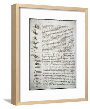 Codex Leicester: Water Flow-Leonardo da Vinci-Framed Giclee Print
