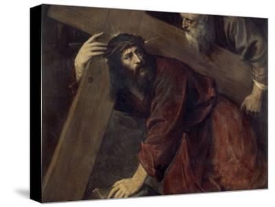 Jesus with the Crucifix-Titian (Tiziano Vecelli)-Stretched Canvas Print