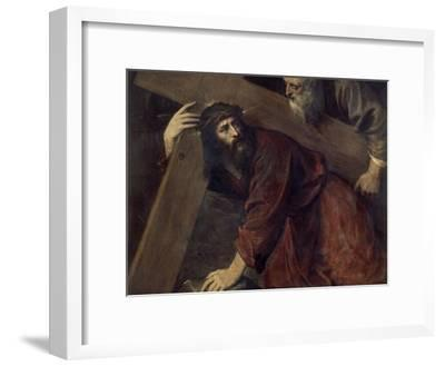 Jesus with the Crucifix-Titian (Tiziano Vecelli)-Framed Giclee Print