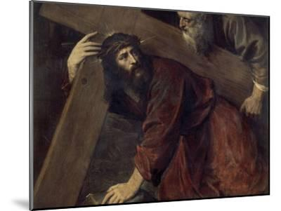 Jesus with the Crucifix-Titian (Tiziano Vecelli)-Mounted Giclee Print