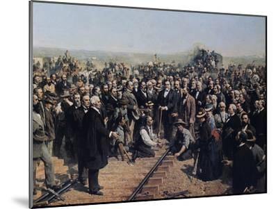 The Last Spike May 10 1869-Thomas Hill-Mounted Giclee Print
