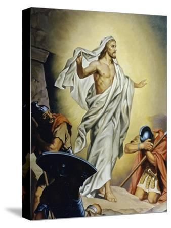 The Resurrection of Jesus-Heinrich Hofmann-Stretched Canvas Print