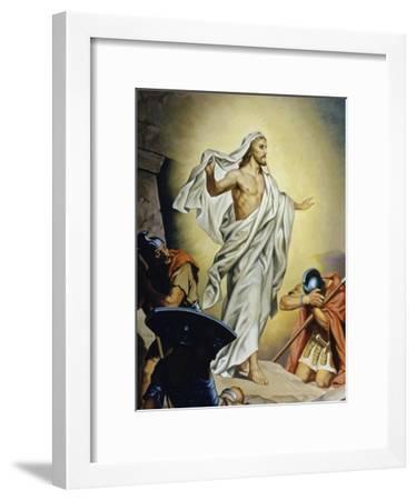 The Resurrection of Jesus-Heinrich Hofmann-Framed Giclee Print