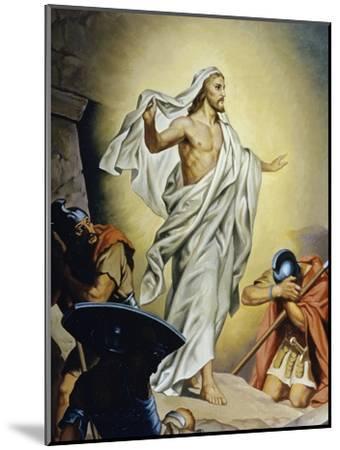 The Resurrection of Jesus-Heinrich Hofmann-Mounted Giclee Print