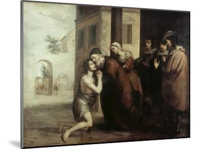 The Return of the Prodigal Son-Bartolome Esteban Murillo-Mounted Giclee Print