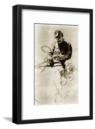 Sketch of a Cavalry Soldier (Civil War)-Winslow Homer-Framed Giclee Print