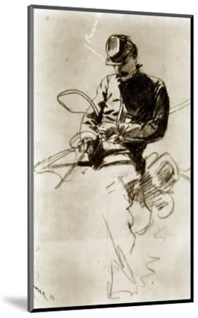 Sketch of a Cavalry Soldier (Civil War)-Winslow Homer-Mounted Giclee Print