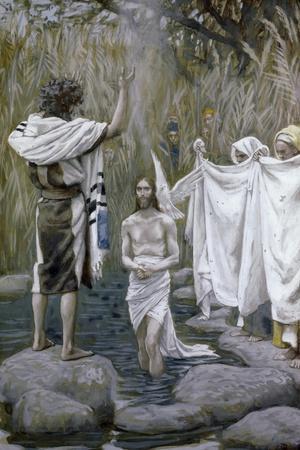 Baptism of Jesus-James Tissot-Stretched Canvas Print