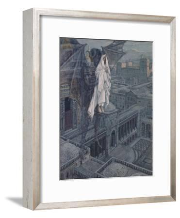 Jesus Taken Up to a Pinnacle of the Temple-James Tissot-Framed Giclee Print