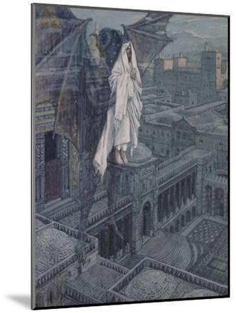 Jesus Taken Up to a Pinnacle of the Temple-James Tissot-Mounted Giclee Print