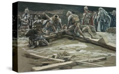The First Nail-James Tissot-Stretched Canvas Print