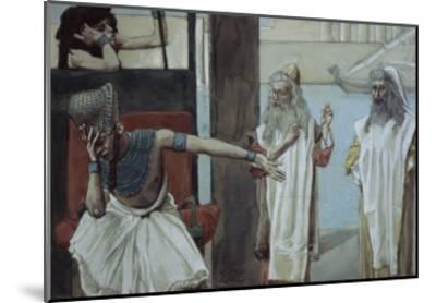 Pharaoh Sueth to Moses-James Tissot-Mounted Giclee Print