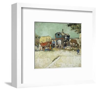 Caravans Encampment of Gypsies-Vincent van Gogh-Framed Premium Giclee Print