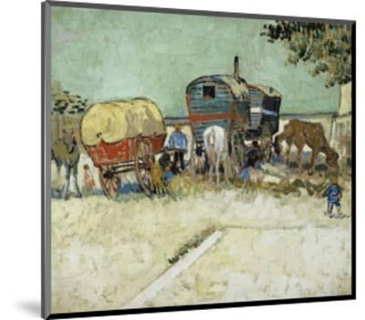 Caravans Encampment of Gypsies-Vincent van Gogh-Mounted Premium Giclee Print