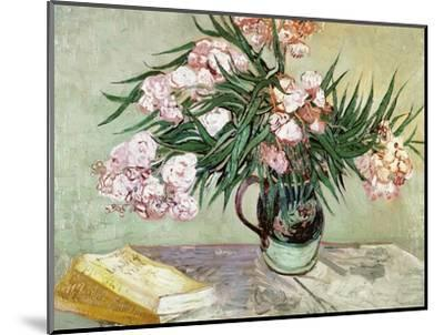 Vase with Oleanders and Books, c.1888-Vincent van Gogh-Mounted Premium Giclee Print