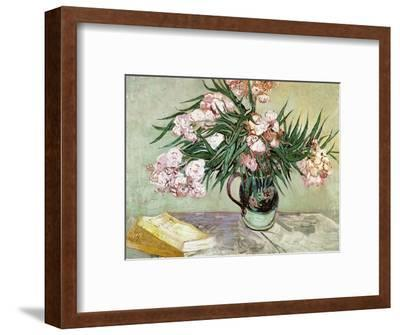 Vase with Oleanders and Books, c.1888-Vincent van Gogh-Framed Premium Giclee Print