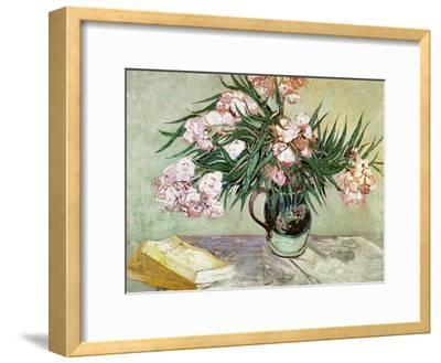 Vase with Oleanders and Books, c.1888-Vincent van Gogh-Framed Giclee Print